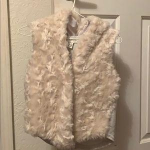 Jessica Simpson Girls hooded faux fur vest